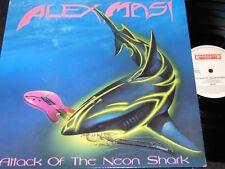 ALEX MASI Attack Of The Neon Shark /Dutch LP 1989  METAL BLADE ROADRACER RO94701