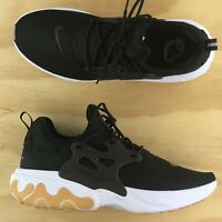 Nike React Presto Black White Gum Athletic Running Sneakers AV2605-007 Size