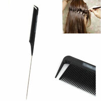 22cm Long Fine-tooth Metal Pin Hairdressing Hair Style Barbers Tails Comb Accs