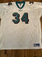 Vintage Reebok on field Miami dolphins Ricky Williams jersey size 60