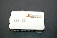 HD Video Converter VGA to Video 5V Power Video Out SVideo Out VGA Out