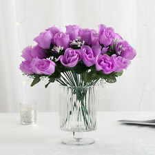 84 Lavender Silk Rose Buds Wedding Party Flowers Bouquets Decorations on Sale
