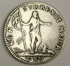 1756 Malta 15 Tari silver coin John the Baptist KM252 VF