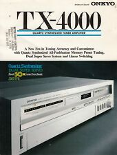 Onkyo TX-4000 receiver brochure catalog 4 pages Vintage Original /b6