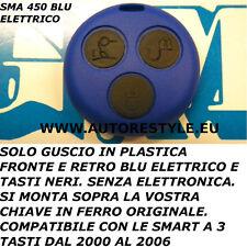 COVER BLU ELETTRICO SMART FORTWO 450 3 TASTI PER TELECOMANDO -USA TUA CHIAVE
