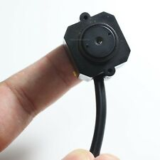Mini Spy Hidden Nanny Wired Pinhole Camera Video Audio CCTV Color CMOS Cam 203C