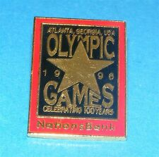 ATLANTA 1996 Olympic Collectible Sponsor Pin - Nations Bank Centennial Games
