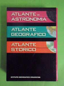 ATLANTE DI ATRONOMIA+ATLANTE GEOGRAFICO +ATLANTE STORICO  DE AGOSTINI TASCABILI