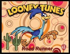 "ROADRUNNER FRIDGE MAGNET LOGO 9. 4"" X 5"". LOONEY TUNES, CARTOONS...FREE SHIPPING"