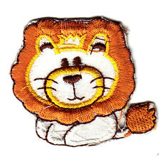 ANIMALS - Lion Baby-Iron On Embroidered Applique/Cute Critters, Children, Babies