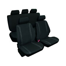 Juego de fundas para asientos de coche universales color negro, 9 piezas