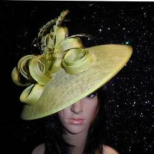 FAILSWORTH ZEST GREEN WEDDING HAT DISC FASCINATOR FORMAL MOTHER OF THE BRIDE