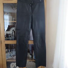 Turquise collection by Uysallar, Black 'leather'look trousers waist 30