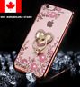 Luxury Bling Clear Case Cover With Crystal Ring Holder For iPhone 6/7/8/X Plus