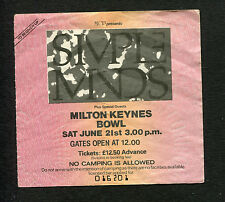 1986 The Cult Simple Minds Waterboys Bangles Concert Ticket Stub Milton Keynes