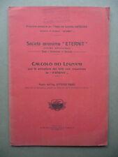 Calcolo Dei Legnami Per Le Armature Dei Tetti Con Coperture Eternit Baggi 1907
