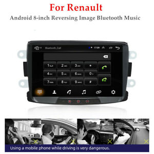 8'' Car Android HD GPS WIFI Navi Reversing Image Bluetooth Music For Renault