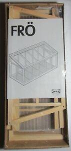 IKEA Mini Greenhouse FRO Denmark Wood Terrarium Herb Cactus Start Garden #20427