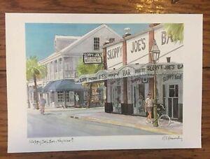 """Sloppy Joe's Bar Key West Florida Art Print Robert E Kennedy Studios Signed 6x9"""""""