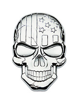 Metal 3D Chrome USA American Flag Skull Car Trunk Emblem Badge Decal Sticker