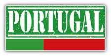 "Portugal Grunge Travel Stamp Car Bumper Sticker Decal 6"" x 3"""