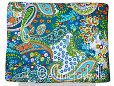 Indian Ethnic Handmade 3 Yard New Paisley Print Dressmaking Cotton Sewing Fabric