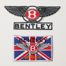 BENTLEY MOTORCARS Patch Set of TWO Embroidered Iron-On Patches - NEW