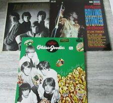 3 Vintage Rolling Stones 33 RPM Vinyl Records Slow Rollers Live Oldies Goodies