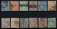 P135034/ SPAIN STAMPS – YEARS 1865 - 1868 USED CLASSIC LOT – CV 212 $