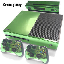 Glossy Green Xbox One Skin for Xbox One Console and Controllers