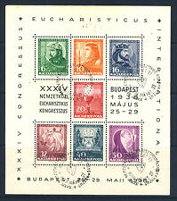 More details for hungary 1938 34th. international eucharistic congress minisheet sg ms619a vfu