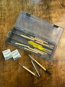 Used 16 piece clay tools with an ArtBin case and 2 packages of Sculpey clay!
