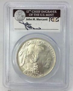 2001 D Buffalo Silver Dollar PCGS MS70