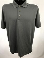 Grand Slam Golf Casual Polo Shirt Mens Performance Polyester Gray S/S XL