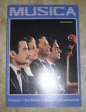 RIVISTA MUSICA N.35 - QUARTETTO ITALIANO - DICEMBRE 1984 (MU4)