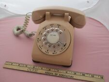 Vintage 1979 Rotary Phone Tan Bell Pacific Telephone Untested from Morro Bay, Ca
