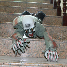 Horror Ground Crawling Zombie Animated Halloween Prop Creepy Haunted House Prop