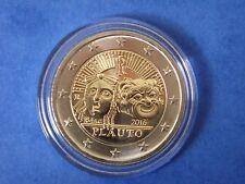 """♣ Pièce 2 euros commémorative ITALIE 2016 """" PLAUTO """"  sous capsule ♣"""