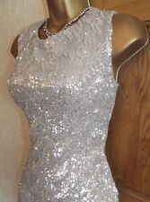 Gorgeous ❤️Jane Norman Gold Sequin Mini Wiggle Evening Party dress size 10 12