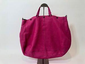 BOTTEGA VENETA Maxi Hobo Leather Bag in Hot Pink AUTHENTIC