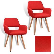 B-Ware 2 Esszimmerstühle Retro Stühle Esszimmer Design Küchenstühle Stuhl Rot
