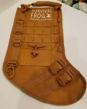 Survival Frog Military Fde/Tan Christmas Stocking Tactical Molle Gear