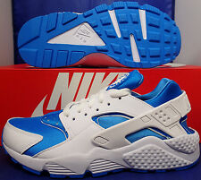 Nike Air Huarache Run iD White Blue SZ 6 / Womens SZ 7.5 ( 777330-999 )