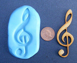 Reusable Musical Treble Clef Silicone Rubber Mould Food Safe Sugarcraft Tumdee 1