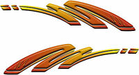 "Boat Car Truck Motorcycle Graphics Decal Vinyl Stickers Flames Wrap 50""x 12"""