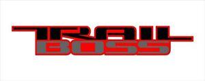 2x Trail Boss Decal Fits: All 2017-2020 Chevrolet Silverado Trucks