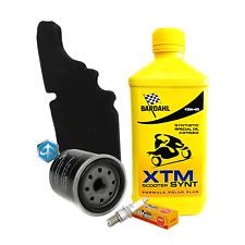 Tagliando Bardahl XTM 10W40 filtro olio aria Piaggio 82635R 843194 candela CR7EB