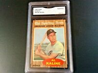 BEAUTIFUL 1962 TOPPS SPORTING NEWS AL KALINE CARD #470 - GRADED AUTHENTIC