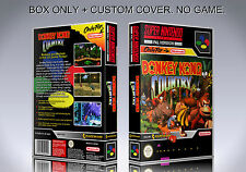 DONKEY KONG COUNTRY. PAL VERSION. Box/Case. Super Nintendo. (NO GAME).