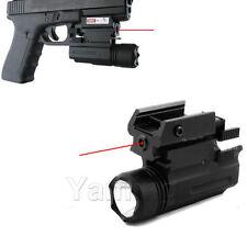 CREE LED QD Flashlight Red Laser Sight For Pistol Gun Glock 17 19 20 21 22 23 30